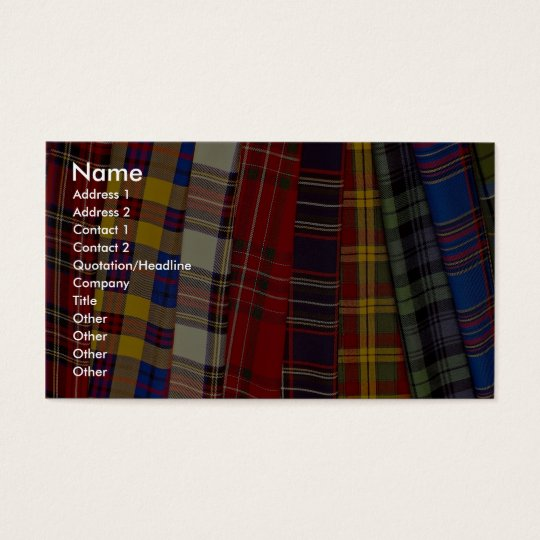 Selection of tartans business card