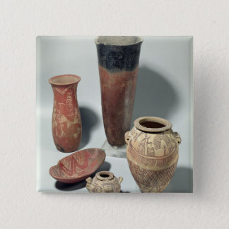 Selection of vases, Naqada I/II Period, 4000-3100 Pinback Button
