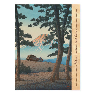 Selection of Views of the Tokaido, Dusk At Taganou Postcard