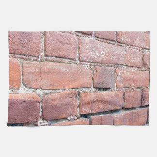 Selective focus on a brick wall at an angle towel