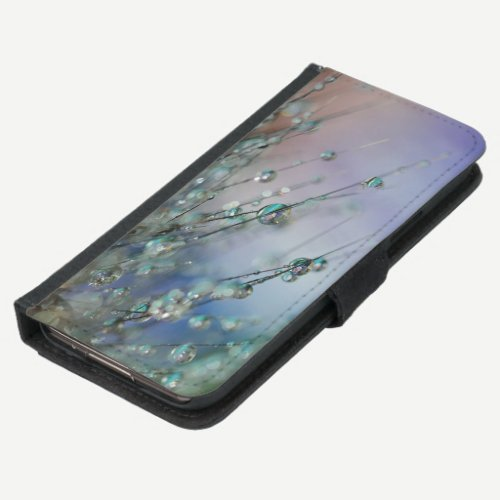 Selective Focus Photo of Dew of Water on Plant Samsung Galaxy S5 Wallet Case