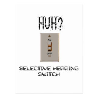 Selective Hearing Switch Postcard
