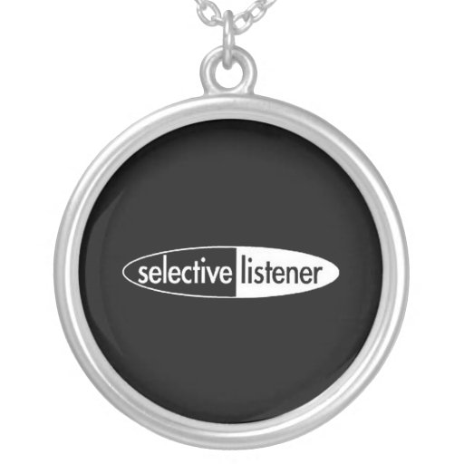 Selective listner personalized necklace