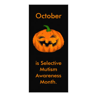 Selective Mutism Awareness Month Custom Rack Card