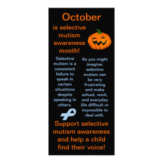 Selective Mutism Awareness Month Facts Rack Card