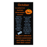 Selective Mutism Awareness Month Facts Full Color Rack Card