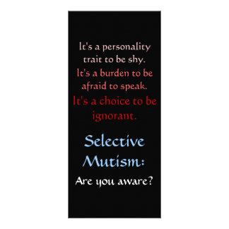 Selective Mutism Awareness Full Color Rack Card