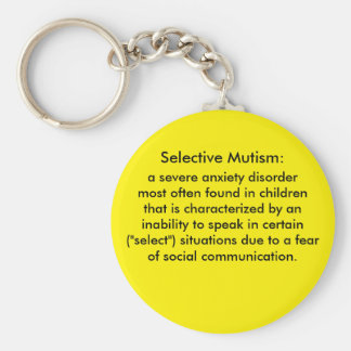 Selective Mutism Definition Keychain