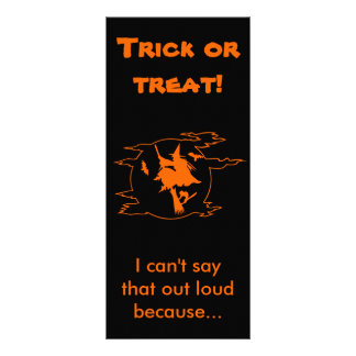 Selective Mutism Trick-or-Treat Rack Card