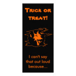 Selective Mutism Trick-or-Treat Personalized Rack Card