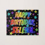 "[ Thumbnail: ""Selena"" First Name, Fun ""Happy Birthday"" Jigsaw Puzzle ]"