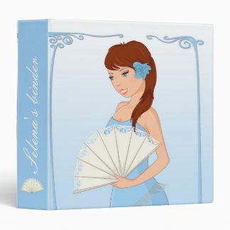 Selena with fan - Binder blue