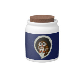 Selene the Owl Candy Jar