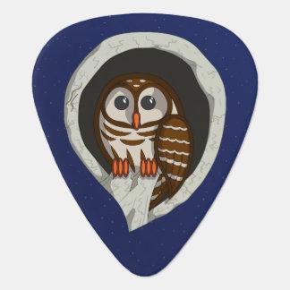 Selene the Owl Guitar Pick