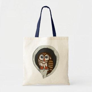 Selene the Owl Light Tote Bag