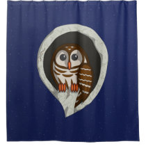 Selene the Owl Shower Curtain