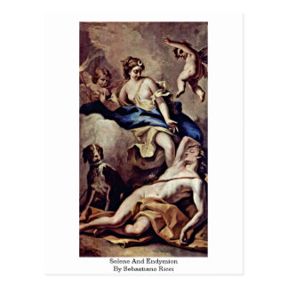Selene y Endymion, por Sebastiano Ricci Postales