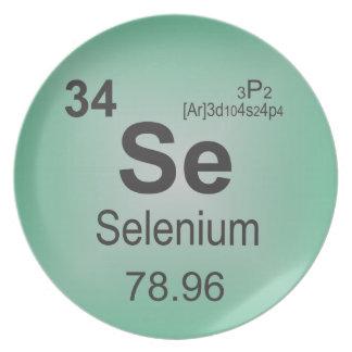 Selenium Individual Element of the Periodic Table Melamine Plate