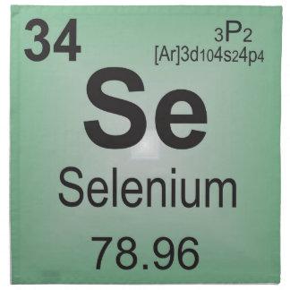 Selenium Individual Elements of the Periodic Table Cloth Napkin