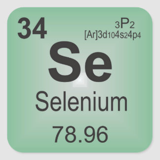 Selenium Individual Elements of the Periodic Table Square Sticker
