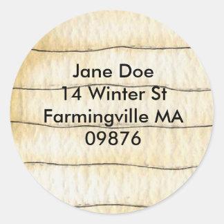 self address envelope sealer classic round sticker