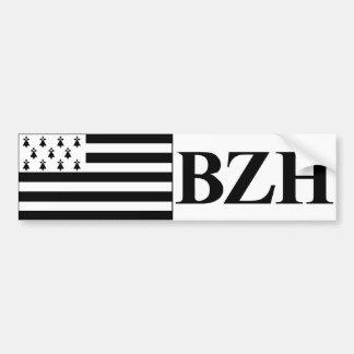 self-adhesive Brittany flag Bumper Sticker