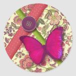 self-adhesive butterfly liberty smart green pink p