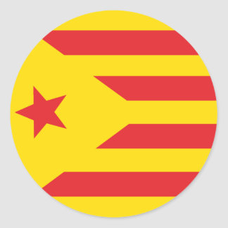 "Self-adhesive Catalan Flag ""Serenya "" Classic Round Sticker"
