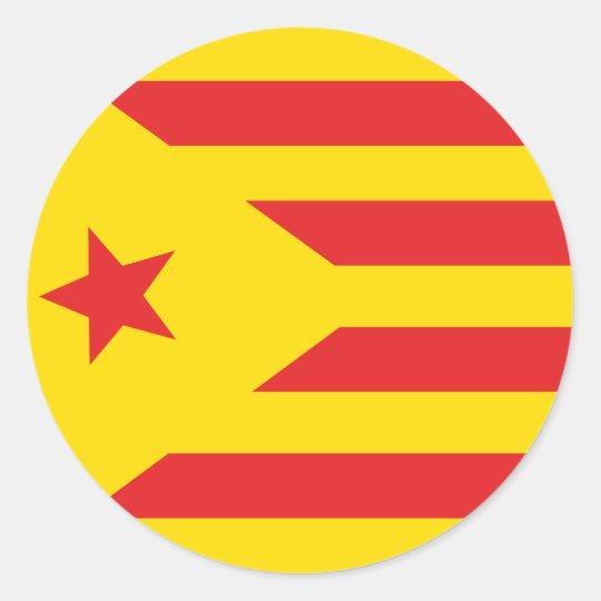 """Self-adhesive Catalan Flag """"Serenya """" Classic Round Sticker"""