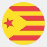 "Self-adhesive Catalan Flag ""Serenya "" Round Stickers"