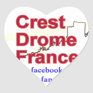 Self-adhesive CREST DROME FRANCE Heart Sticker