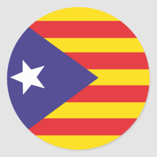 Self-adhesive Flag of Catalan Independence Classic Round Sticker
