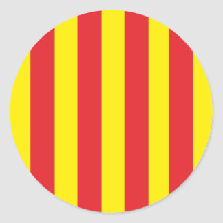 Self-adhesive Flag of Provence Classic Round Sticker