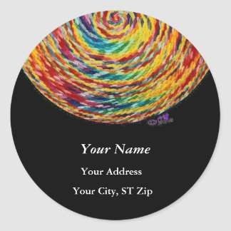 """""""self and Self"""" Address Labels Classic Round Sticker"""