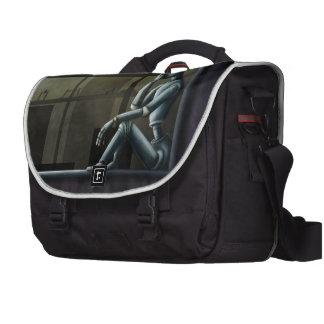 self aware robot scifi laptop commuter bag