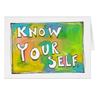 Self Awareness knowledge wisdom fun colorful art Card
