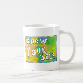 Self Awareness knowledge wisdom fun colorful art Coffee Mug
