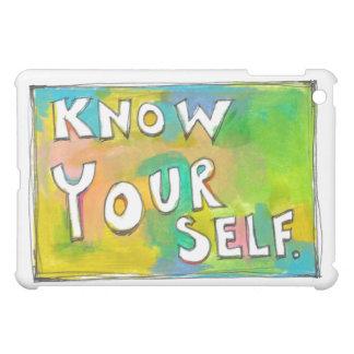 Self Awareness knowledge wisdom fun colorful art Case For The iPad Mini