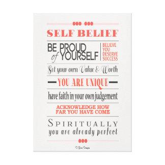 Self Belief Motivational Quote Canvas Canvas Print