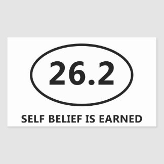 Self Belief Rectangular Sticker
