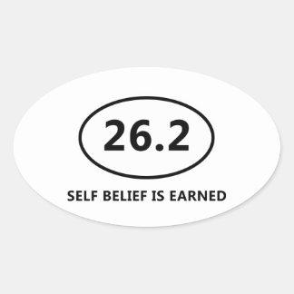 Self Belief Oval Sticker