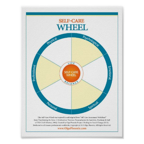 Self_Care Wheel Create Your Own Poster