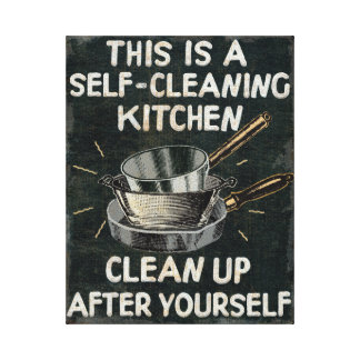 Self Cleaning Kitchen Canvas Print