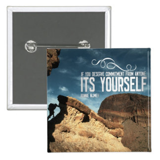 Self Commitment Inspirational Button