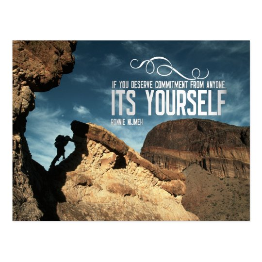Self Commitment Inspirational Post Card