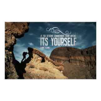 Self Commitment Inspirational Poster Print