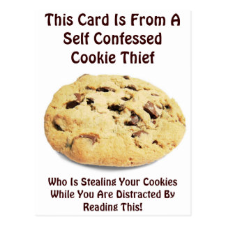 Self Confessed Cookie Thief! - Funny Postcard