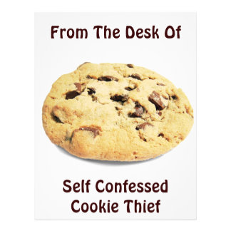 Self Confessed Cookie Thief! - Office Flyer