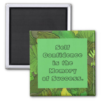 self confidence 2 inch square magnet