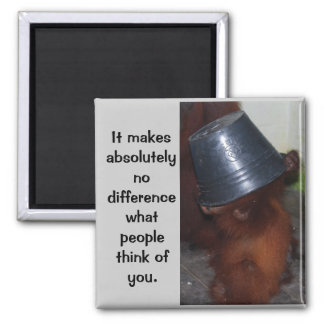 Self Confidence and Pride 2 Inch Square Magnet